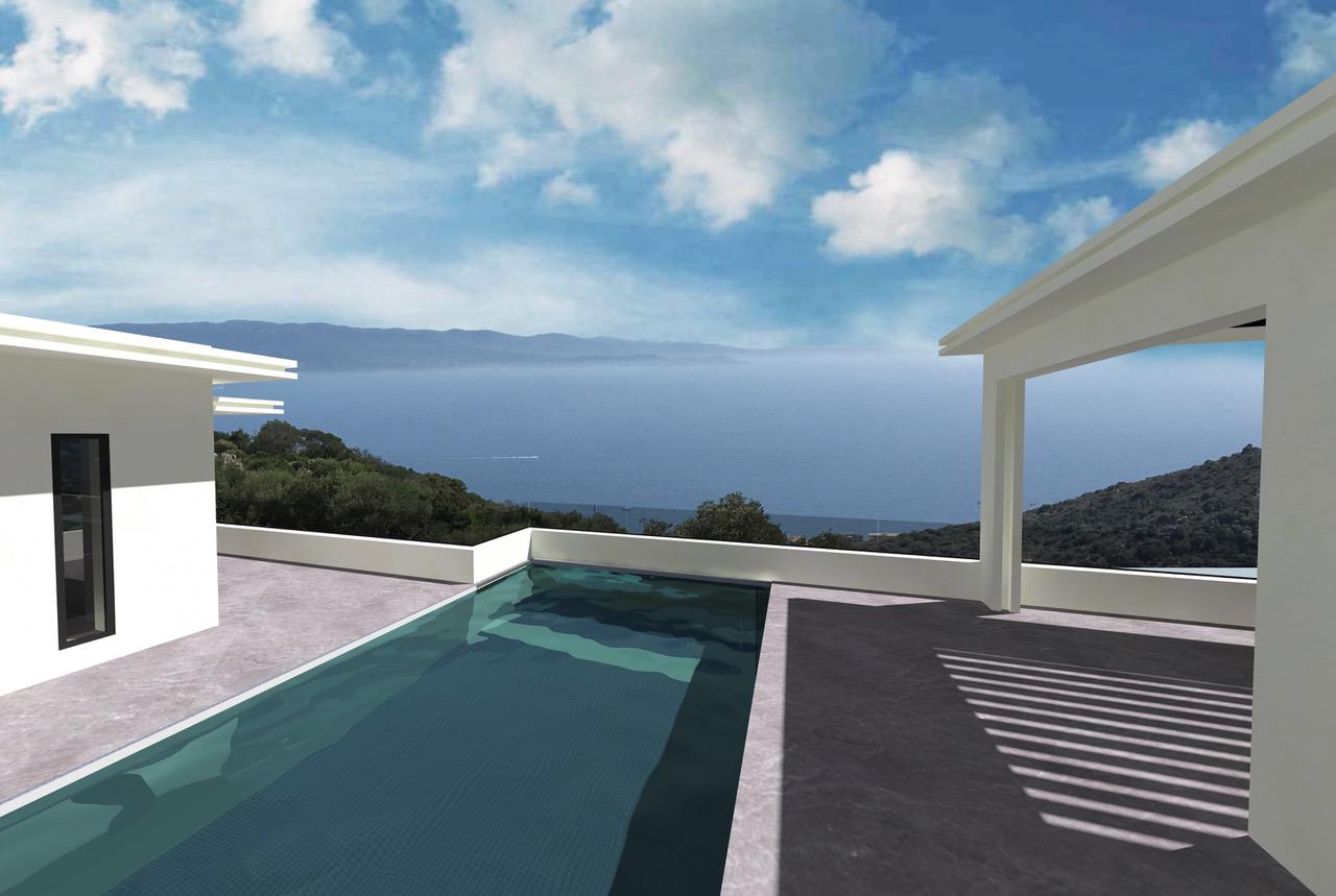Vente Ajaccio Salario Villa De Luxe En Gros Oeuvre Vue Mer Avec